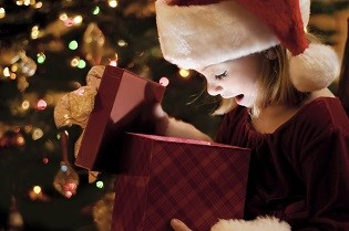 Girl Opening Present